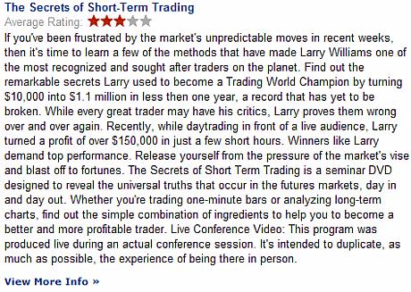 Larry Williams Secrets of Short Term Trading