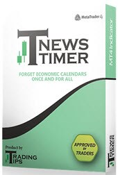 T-NewsTimer attaches to Metatrader 4 currency charts and counts down the time to the next news announcement