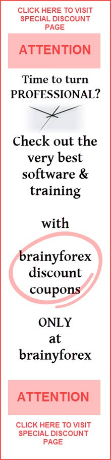 Brainyforex has the largest discount coupon codes for site visitors available anywhere on the net. Save hundreds of dollars with these coupon codes. CLICK HERE.