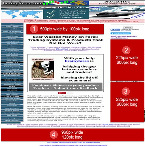 Forex site advertising on brainyforex.com Banner placements