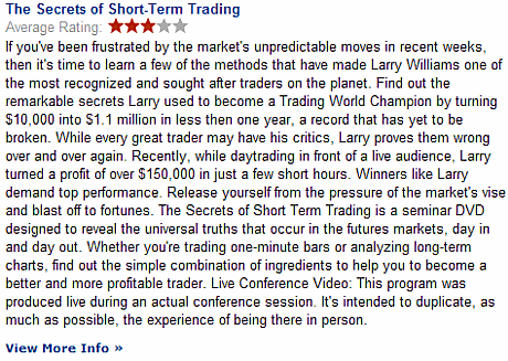 Larry Williams Secrets of Short Term Trading